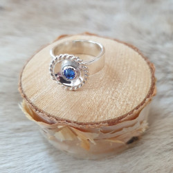 Ring Round Blue Silver