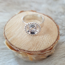 Ring Round Transparent Silver