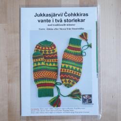 Stickmönster Jukkasjärvi Vante