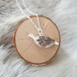 Pendant Grouse Large Silver...