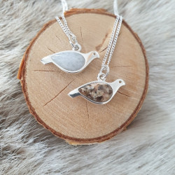 Pendant Grouse Small Silver...