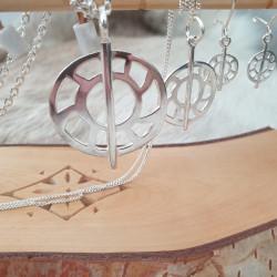 Halsband Månen Silver Stor
