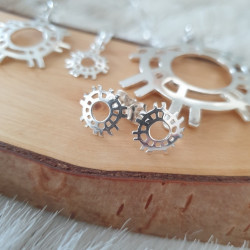 Earrings The Sun Silver Small