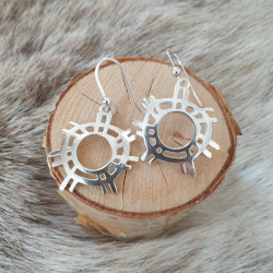 Earrings The Sun Silver Large