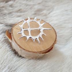 Brosch Sol Mellan Silver