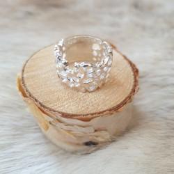 Ring Silver Mönstrad Juhls