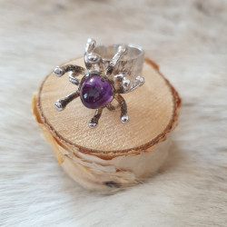 Ring Silver Ametist Lila...