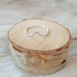 Ring Silver V Thin
