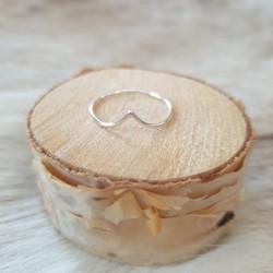 Ring Silver V Tunn