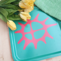 Tray Sun Red Green