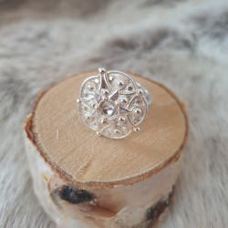 Ring Silver By Juhls Flower
