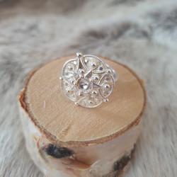 Ring Silver Blomma Juhls