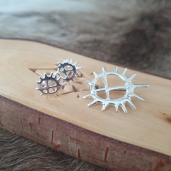 Brooch Sun Small Silver