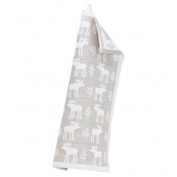 Kitchen Towel Moose White