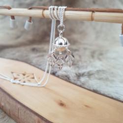 Halsband Komsekula Löv Silver