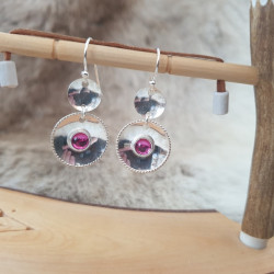 Earrings Sami Pink Stone...