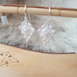 Earrings Sami Leaf Silver