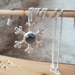 Halsband Snöstjärna Silver...