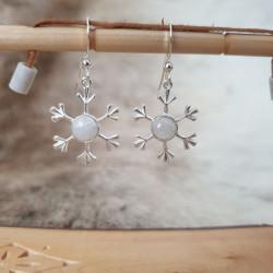 Earrings Snowflake Silver...