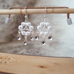 Earrings Filigree Snurr Silver