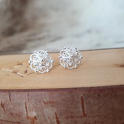 Earrings Filigree Round Silver