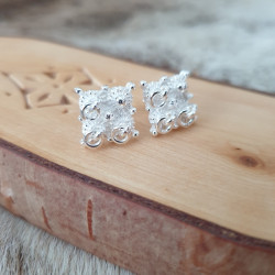 Earrings Silver Square