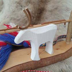 copy of Reindeer White Wood...