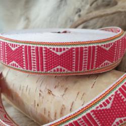 Fabricstripe White Red...