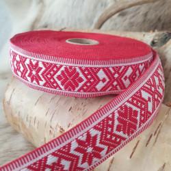 Fabricstripe White Red