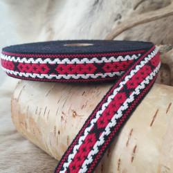 Fabricstripe Black Red White