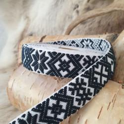 Fabricstripe Black White
