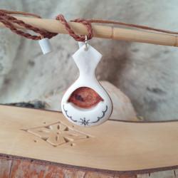 Halsband Renhorn Björk Stor
