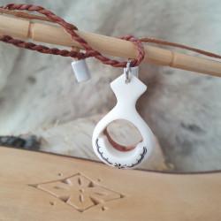 Halsband Renhorn Björk Mellan