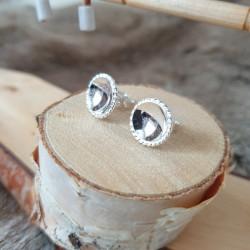 Earrings Round Silver