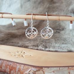 Earrings Round Nr 1 Silver