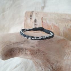 Pewter bracelet Round Black...