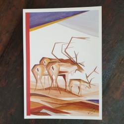 Konstkort Mäktig A V Waara