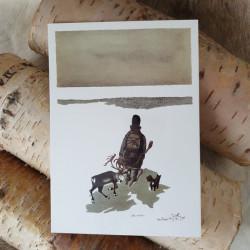 Konstkort Renhjorden Pirak
