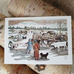 Konstkort Sameläger Pirak