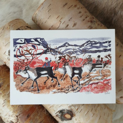 Konstkort Renar Pirak