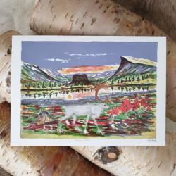 Konstkort Vita renen Pirak