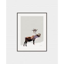 Poster Reindeer Uno