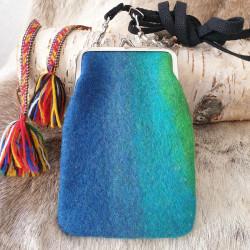 Väska Börsmodell Ull Blå