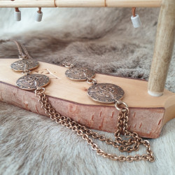 Halsband Vintage Cirklar Brons