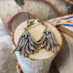 Örhängen Vintage Lilja Stor...