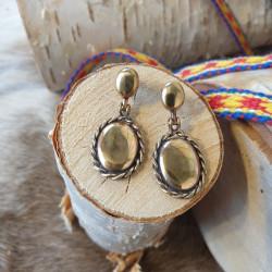 Örhängen Vintage Amulett Brons