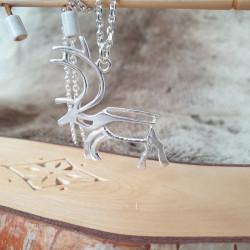 Pendant Reindeer Large Silver