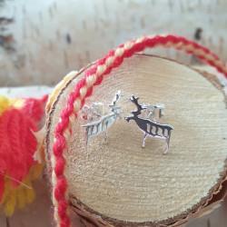Earrings Standing Reindeer...