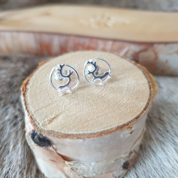Earrings Reindeer Silver