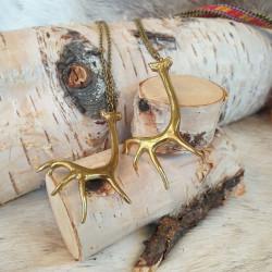 Halsband Renhorn Brons